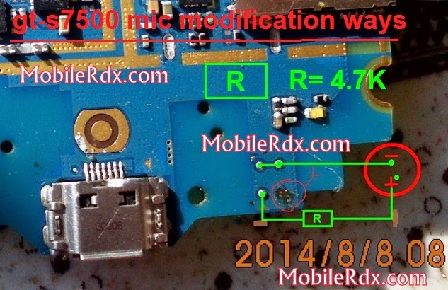 samsung gt s7500 mic modification - Samsung Ace Plus S7500 Mic Solution Repair Ways