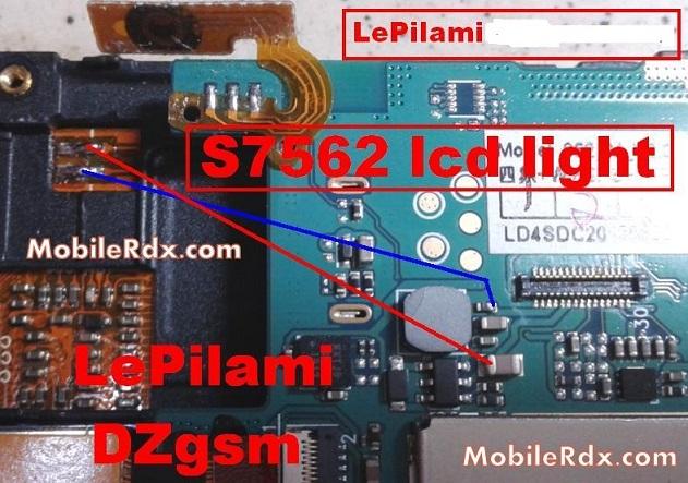 samsung s7562 display light ways solution
