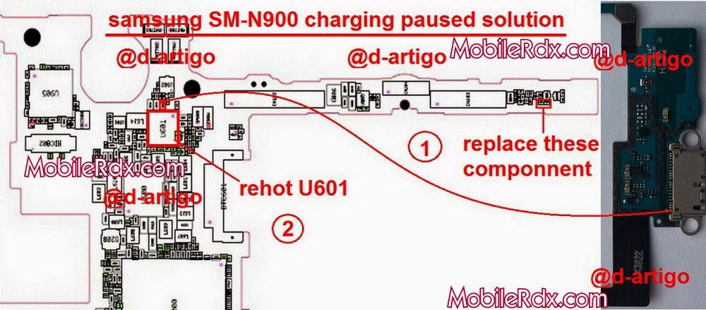 Repair Samsung Note 3 Sm N900 Charging Paused By Temperature Problem