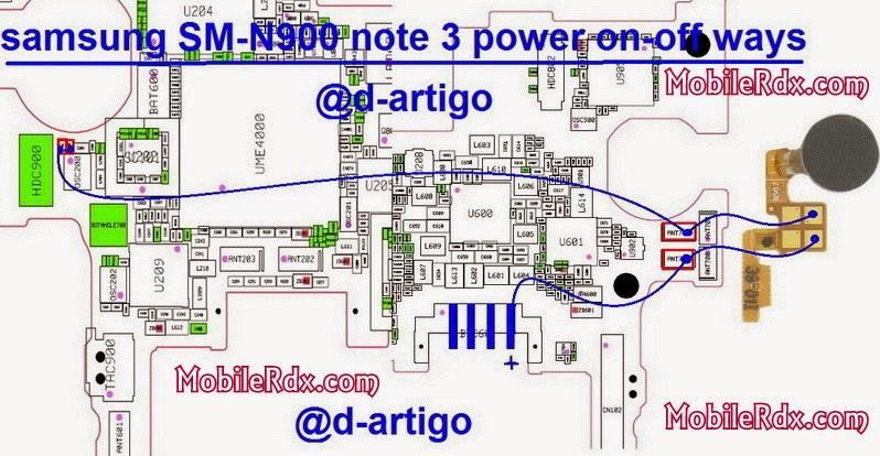 samsung sm n900 note3 power on off ways jumper - Samsung Note 3 SM N900 Power Button Ways