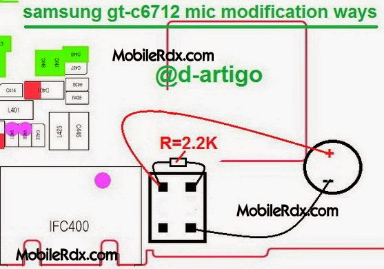 samsunggt c6712 mic modification ways solution