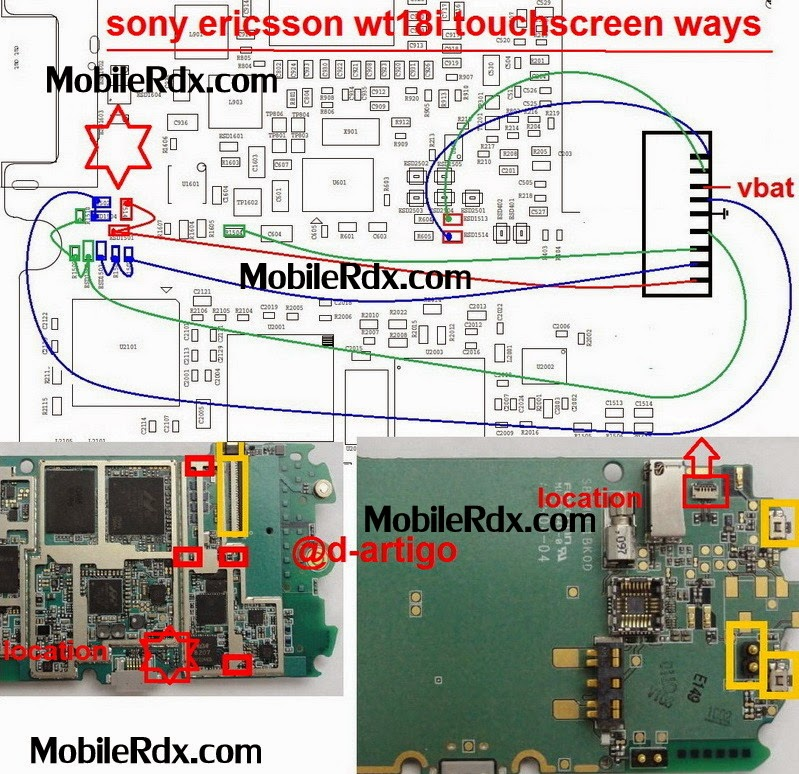 sony wt18i touchscreen connecter ways solution - Sony Ericsson wt18i Touchscreen Connecter Problem Jumper Solution