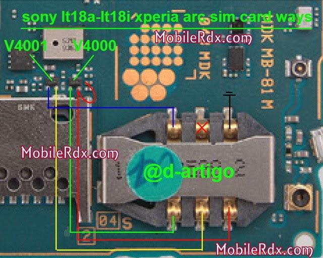 sonylt18a lt18i xperia arc simcard ways jumper - Sony Xperia Arc S LT18i, 18a Insert Sim Problem Solution