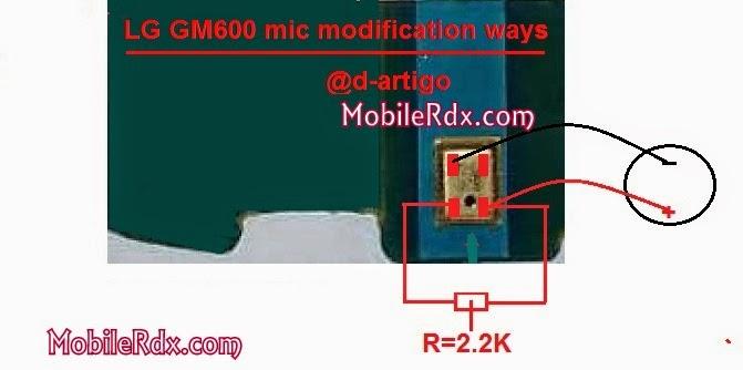 LG GM 600 mic solution modification ways - Lg GM 600 Mic Solution Wih Modification Ways