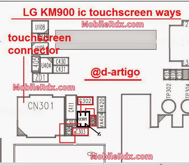LG KM900 ic touchscreen ways