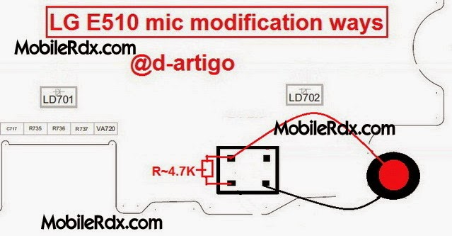 LGE510 mic solution modification ways - Lg E510 Mic Problem Solution Microphone Ways