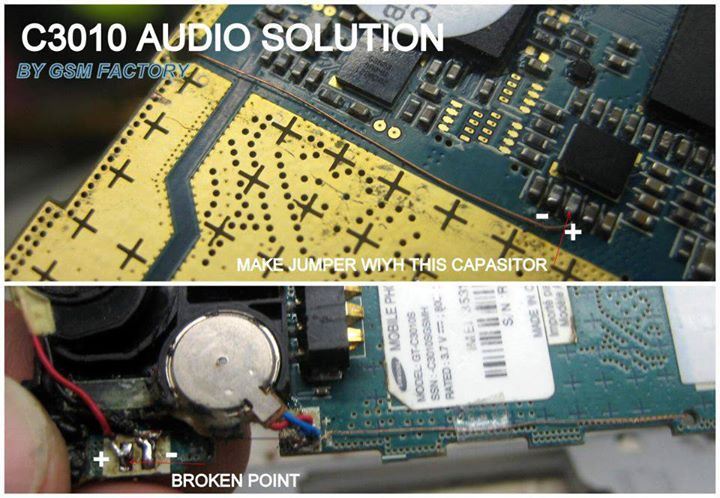 Samsung C3010 Ringer Speaker Jumper Ic Ways - Samsung C3010 Ringer Speaker Jumper Solution