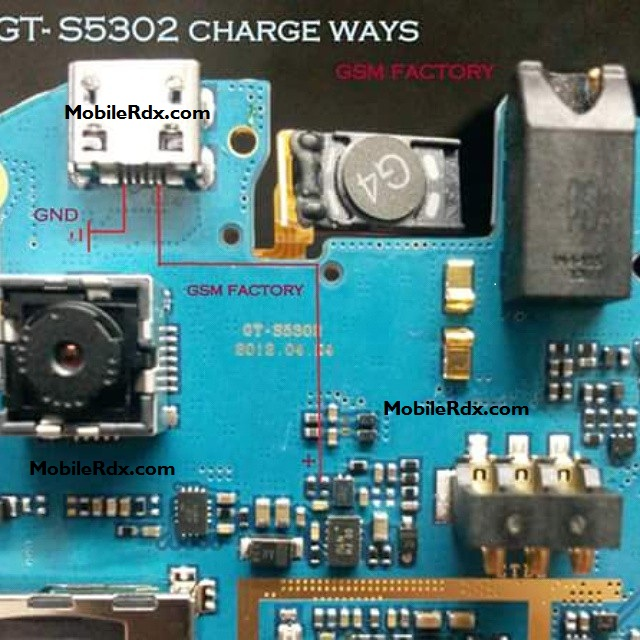Samsung GT-S5302 Charging Ways Solution Jumper