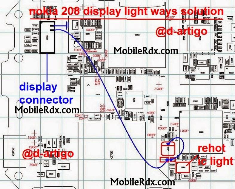 noki 208 dislpay light solution jumper ways