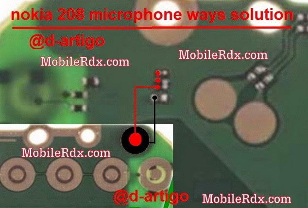 nokia 208 mic ways jumper solution