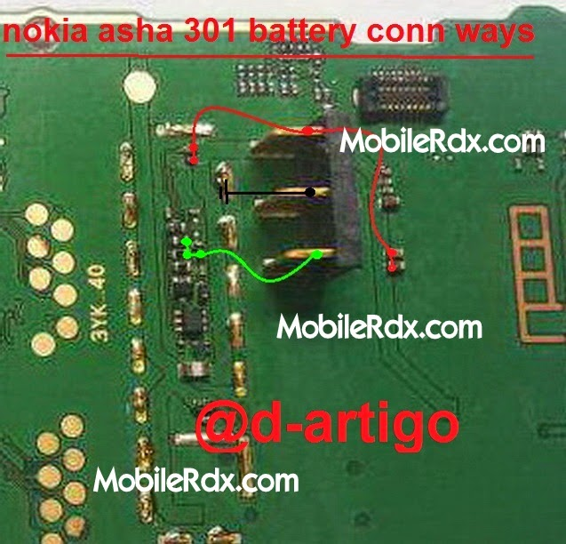 nokia 2Basha 2B301 2Bbattery 2Bconnecter 2Bways - Nokia Asha 301 Battery Terminal Jumper Ways