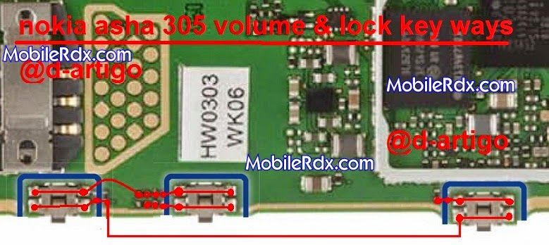 Nokia Asha 305 Volume And Lock Key Button Ways