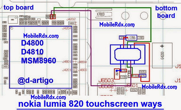 nokia lumia 820 touchscreen jumper ways