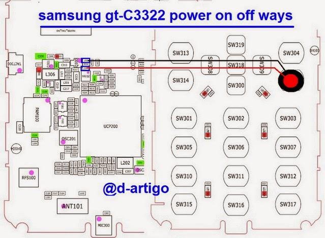 samsung 2Bgt c3322 2Bpower 2Bbutton 2Bways