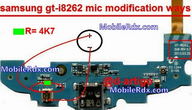 Samsung Gt I8262 Mic Solution Modificaion Ways on motherboard resistor