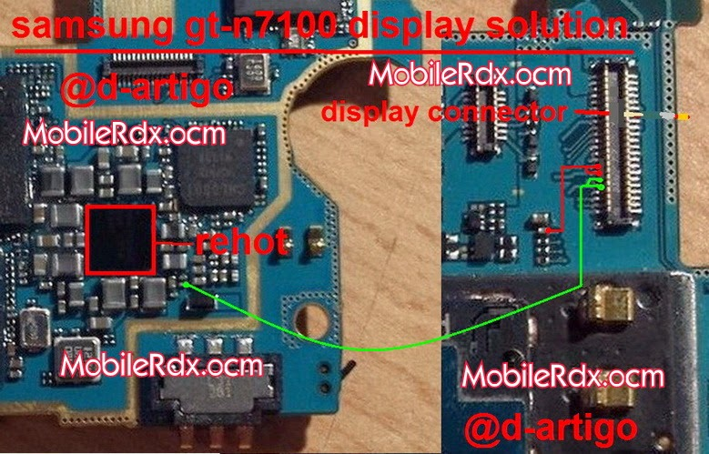Samsung Note2 N7100 Display Light Issue Solution Mobilerdx