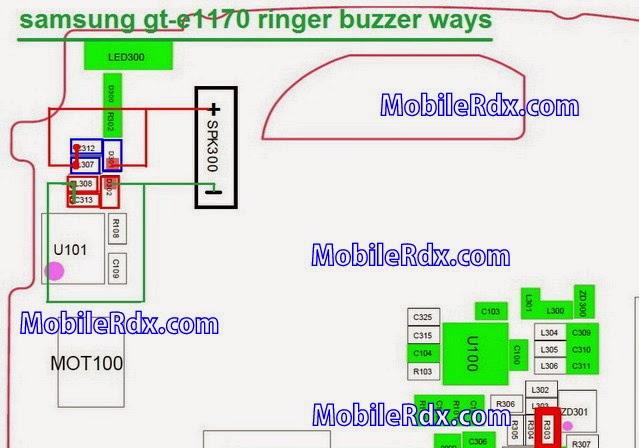 samsung gt e1170 ringer buzzer ways
