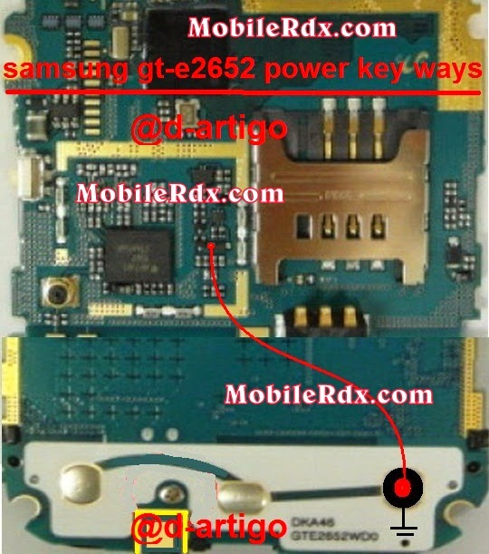 samsung gt e2652 power key ways jumpering