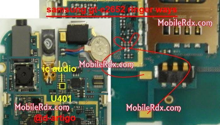 samsung gt e2652 ringer speaker ways