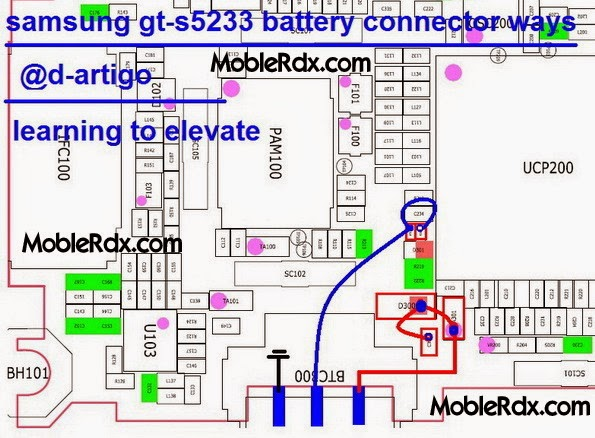 samsung gt s5233 battery connector ways - Samsung GT-S5233 Battery Connecter Pin Ways