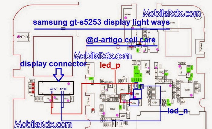 samsung gt s5253 display light jumper solution ways
