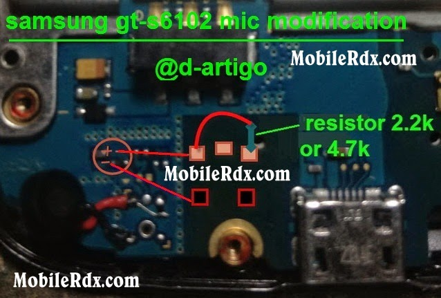 samsung gt s6102 mic ways jumper modification solution