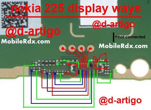 nokia 225 full display light ways track jumper solution - Nokia 225 Display Light Not Working Ways Solution