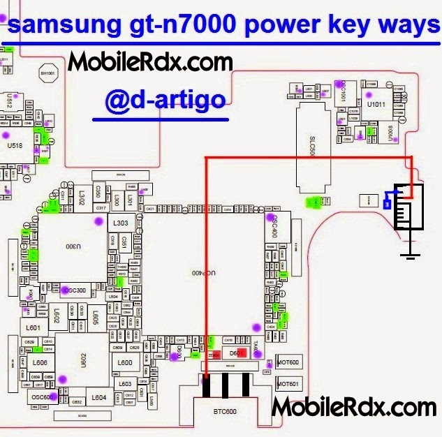 samsung 2Bgt n7000 2Bpower 2Bkey 2Bway - Samsung Note N7000 Power Button Ways Repair Jumper