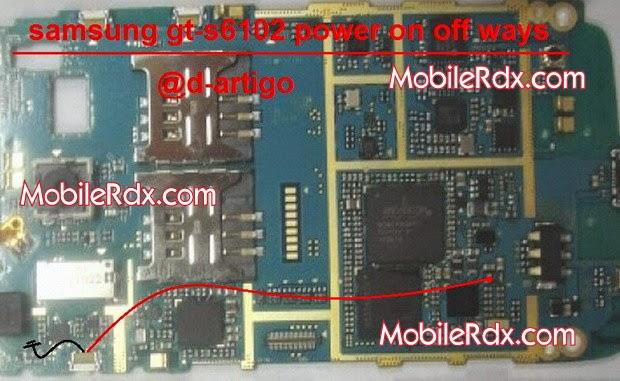 Samsung S6102 Power Button Ways On Off Key Jumper Mobilerdx