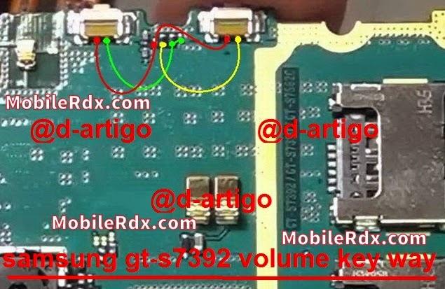 samsung 2Bgt s7392 2Bvolume 2Bbutton 2Bways 2Bjumper 2Bon 2Boff 2Bkey - Samsung Galaxy Trend S7392 Volume Button Ways Jumper Solution