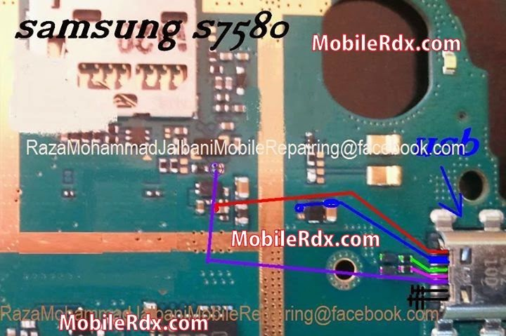 Samsung Trend Plus S7580 Charging Solution With Usb Jumper