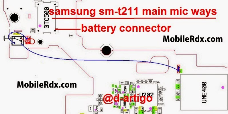 samsung 2Bsm t211 2Bmain 2Bmic 2Bways - Repair Samsung SM-T211 Main Mic Ways Problem