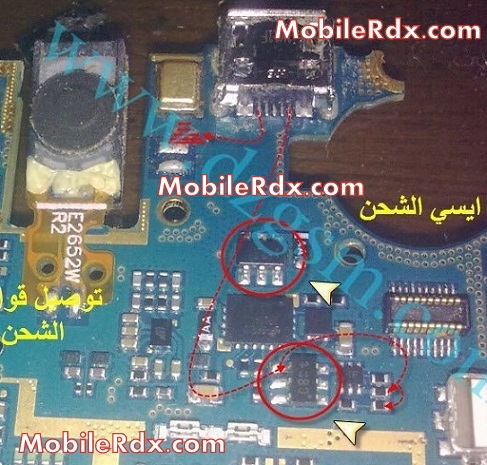samsung gt-e2652 charging ways jumper solution repair