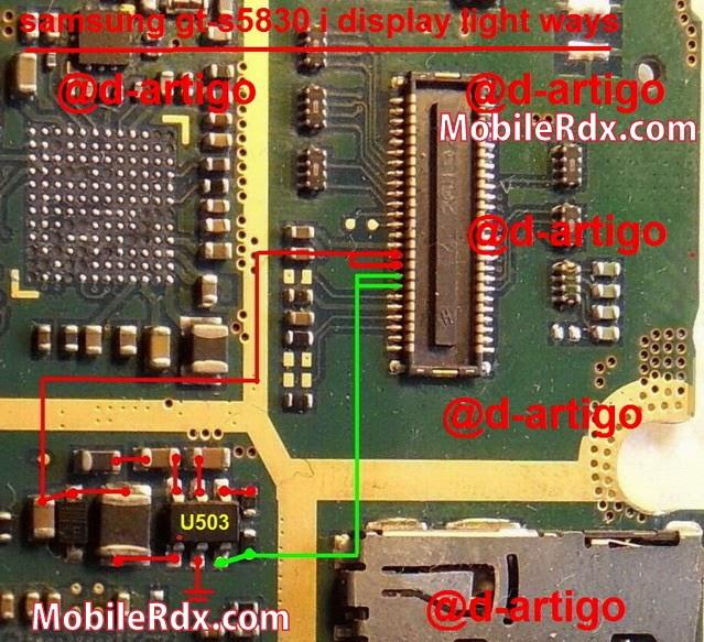 samsung gt s5830i display light ways lcd light jumper solution