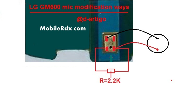 LG GM600 mic ways modification solution