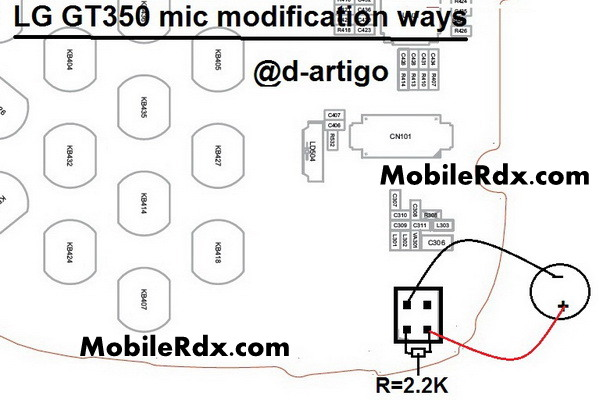 LG GT350 mic modificaion ways solution