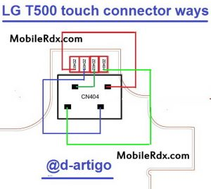 LG T500 touch screen connector ways 300x268