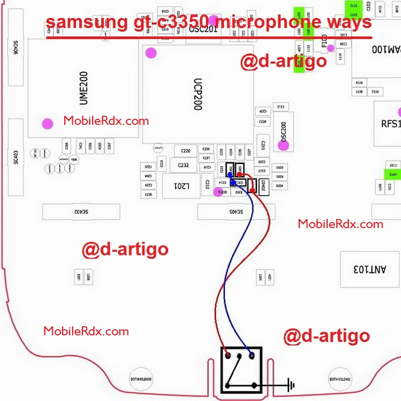 Samsung C3350 Full Mic Ways Solution Ic Jumper