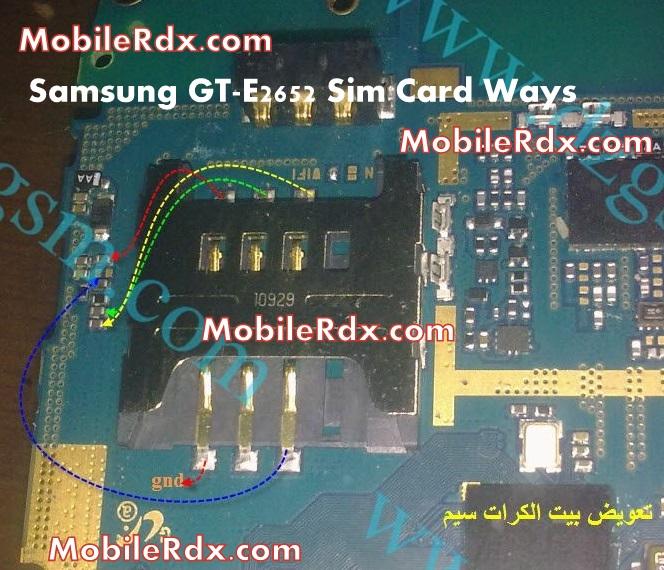 Samsung GT E2652 Sim Card Ways Jumper Problem Solution