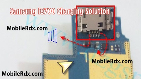Samsung GT I8700 Charging Ways Jumper Solution