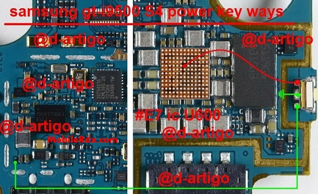 Samsung Galaxy S4 GT I9500 Power Button Ways Key Jumper