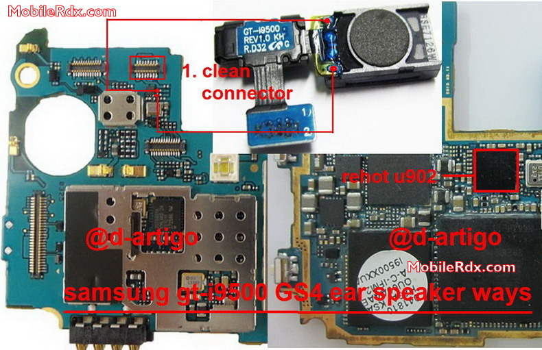 Samsung I9500 Galaxy S4 Ear Speaker Ways Problem Solution Jumper
