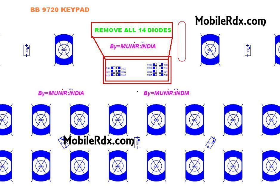 blackberry 9720 keypad problem repair solution