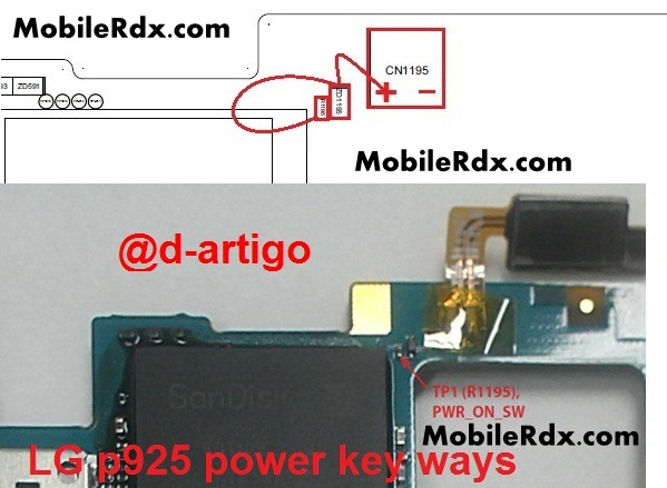 lg p925 power button ways