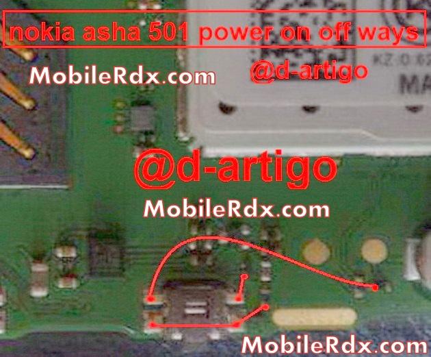nokia asha 501 power on off button ways problem jumper