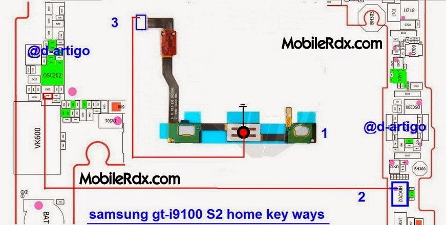 samsung 2Bgt i9100s2 2Bhome 2Bkey 2Bbutton 2Bways - Samsung Galaxy S2 I9100 Home Key Button Jumper Ways