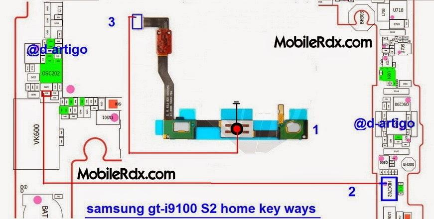 samsung 2Bgt i9100s2 2Bhome 2Bkey 2Bbutton 2Bways - Samsung Galaxy S2 I9100 Home Key Button Jumper Ways
