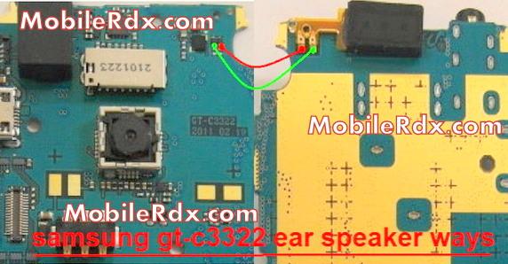 samsung gt-c3322 ear speaker ways jumper solution