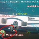 samsung gt-e2652 mic problem ways solution jumper