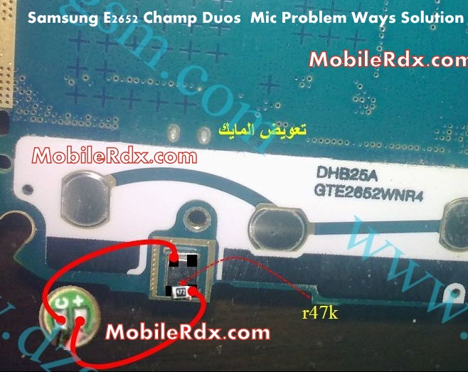 samsung gt-e2652 mic problem ways solution jumper